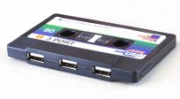 Retro Cassette Tape 3 Port  USB 1.1 Hub Novelty